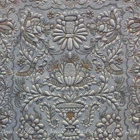трапунто - объемная вышивка